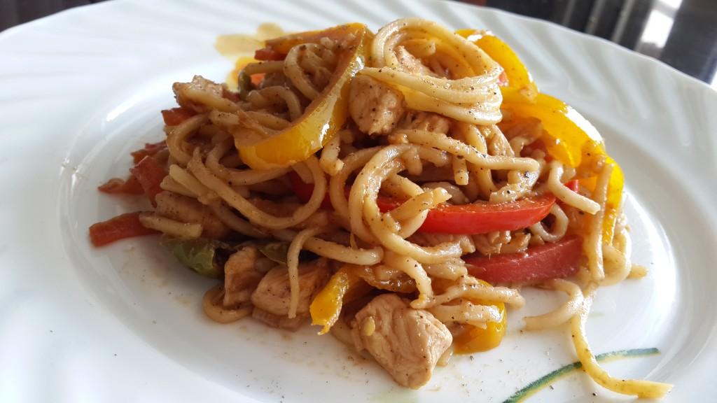 pepper chicken noodles