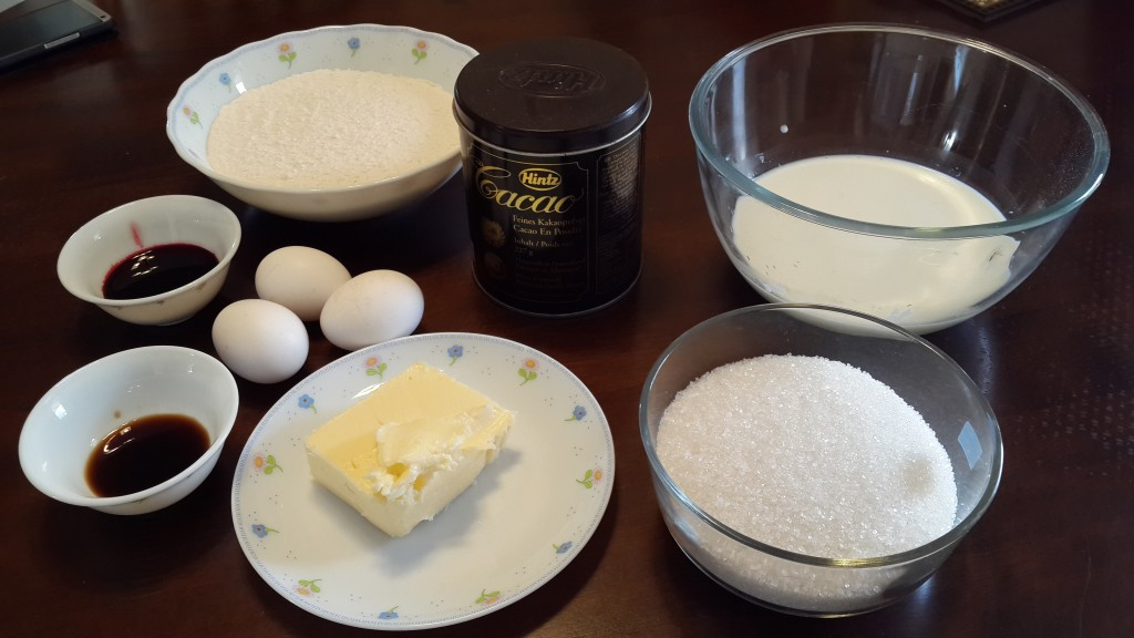 Red Velvet Cake Ingredients