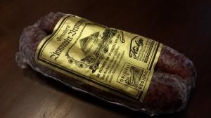 Bratwurst sausage packaged