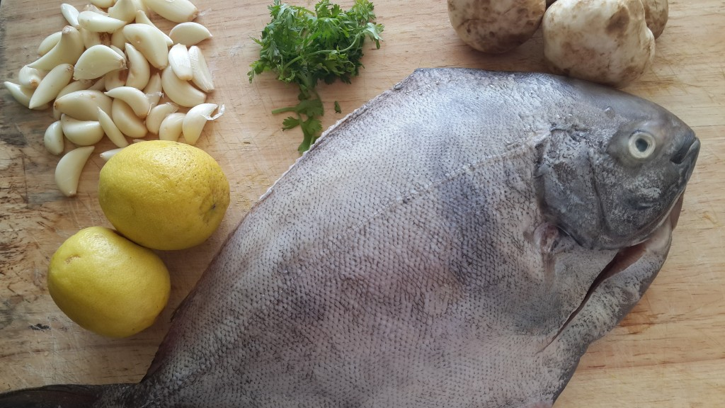 Baked lemon garlic fish ingredients