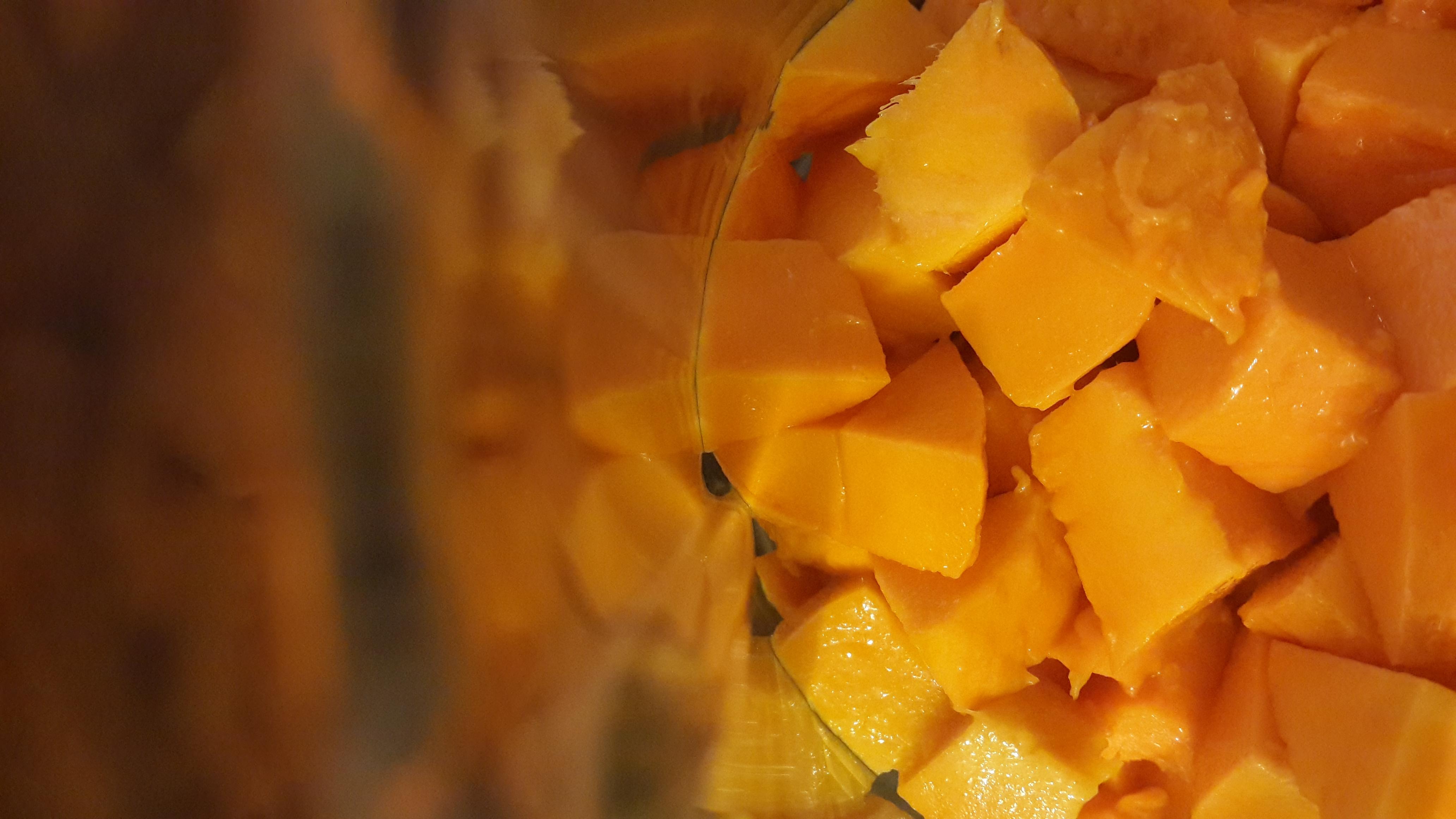 Chopped mango bits