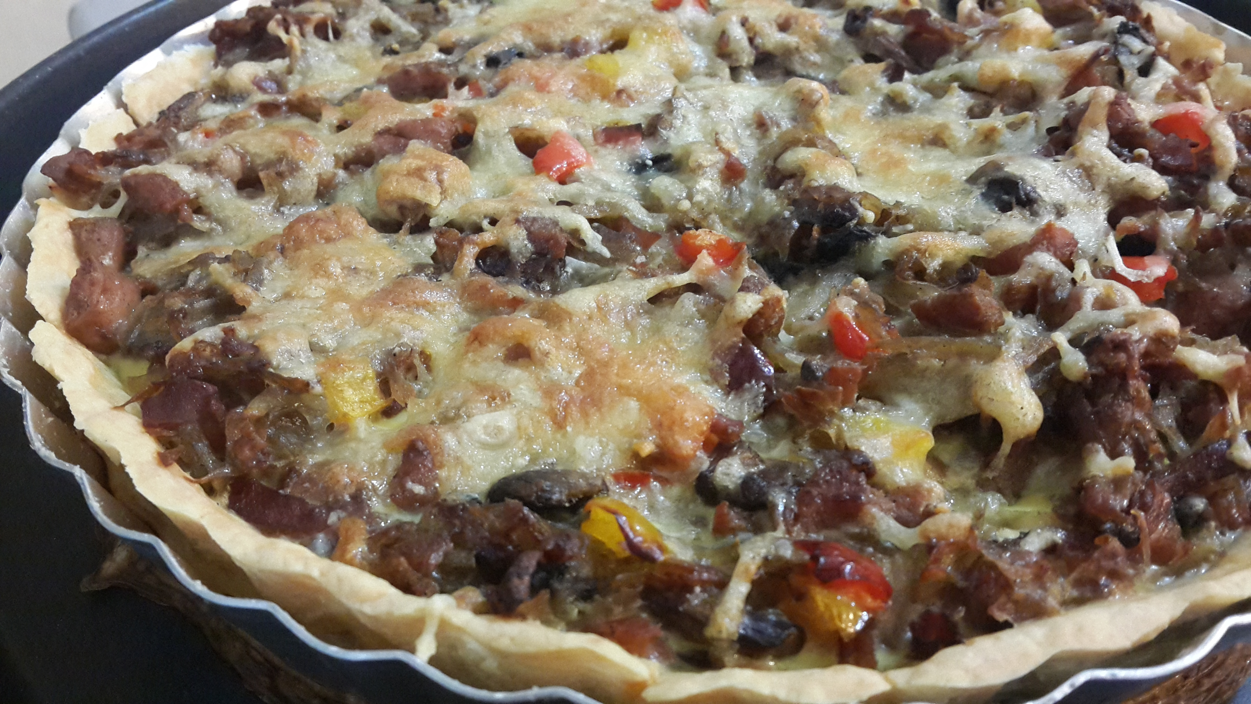 Just baked sausage potato quiche