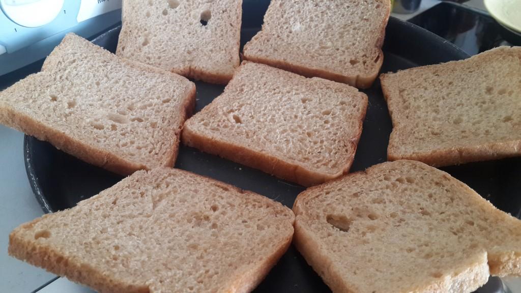 Toasted sliced bread
