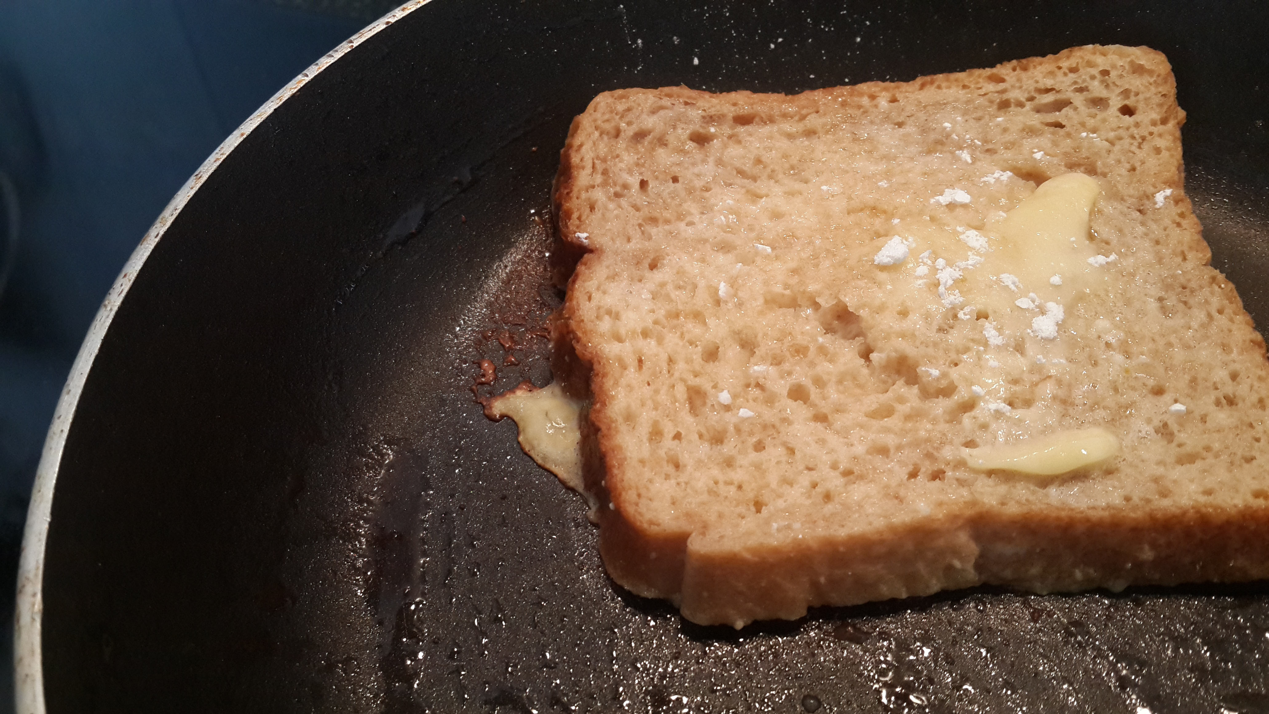 French toast in progress