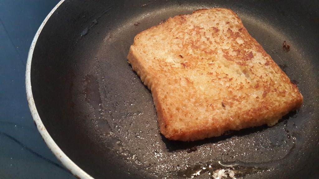 French toast in progress